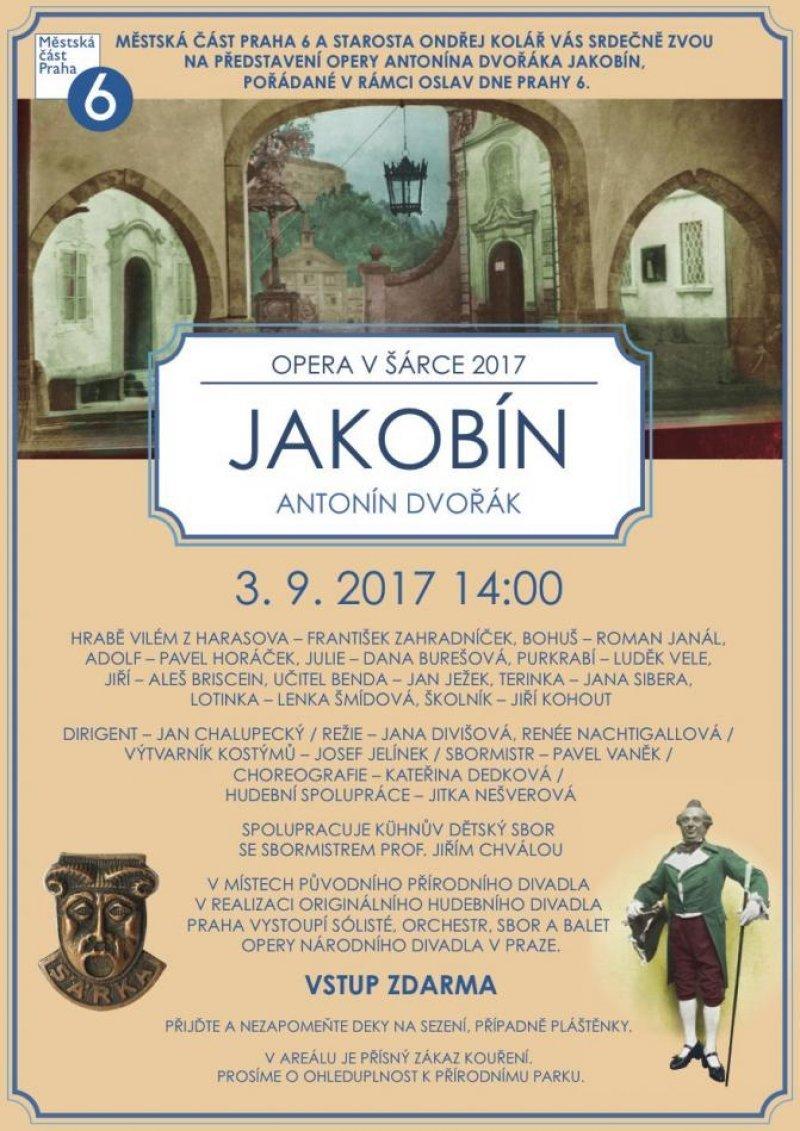 c76a65321 Opera JAKOBÍN proběhne v neděli 3. září 2017 od 14.00 hodin v režii Jany  Divišové a Renée Nachtigallové pod taktovkou dirigenta Jana Chalupeckého.